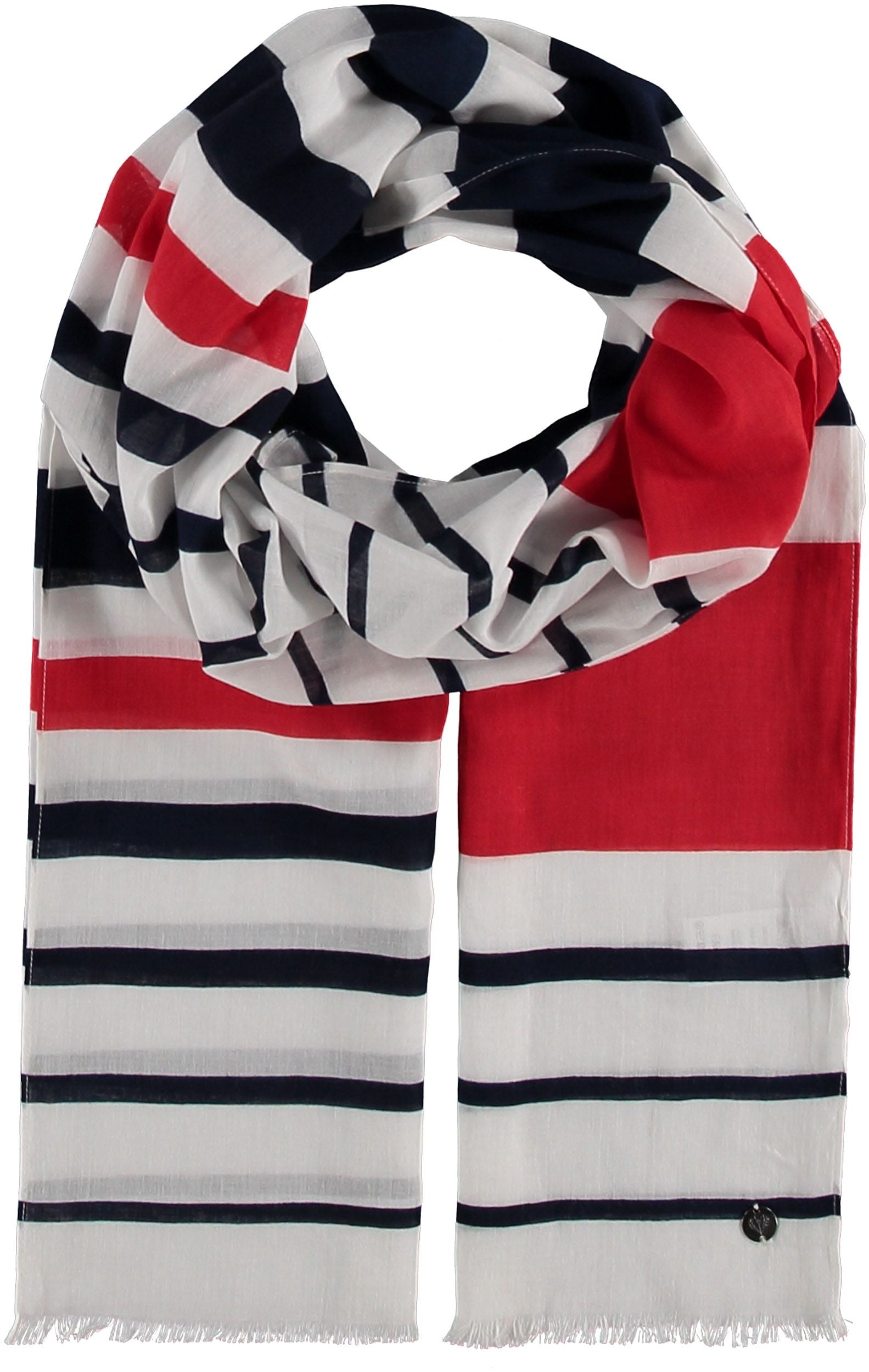 Nautical Stripe Cotton Print Scarf