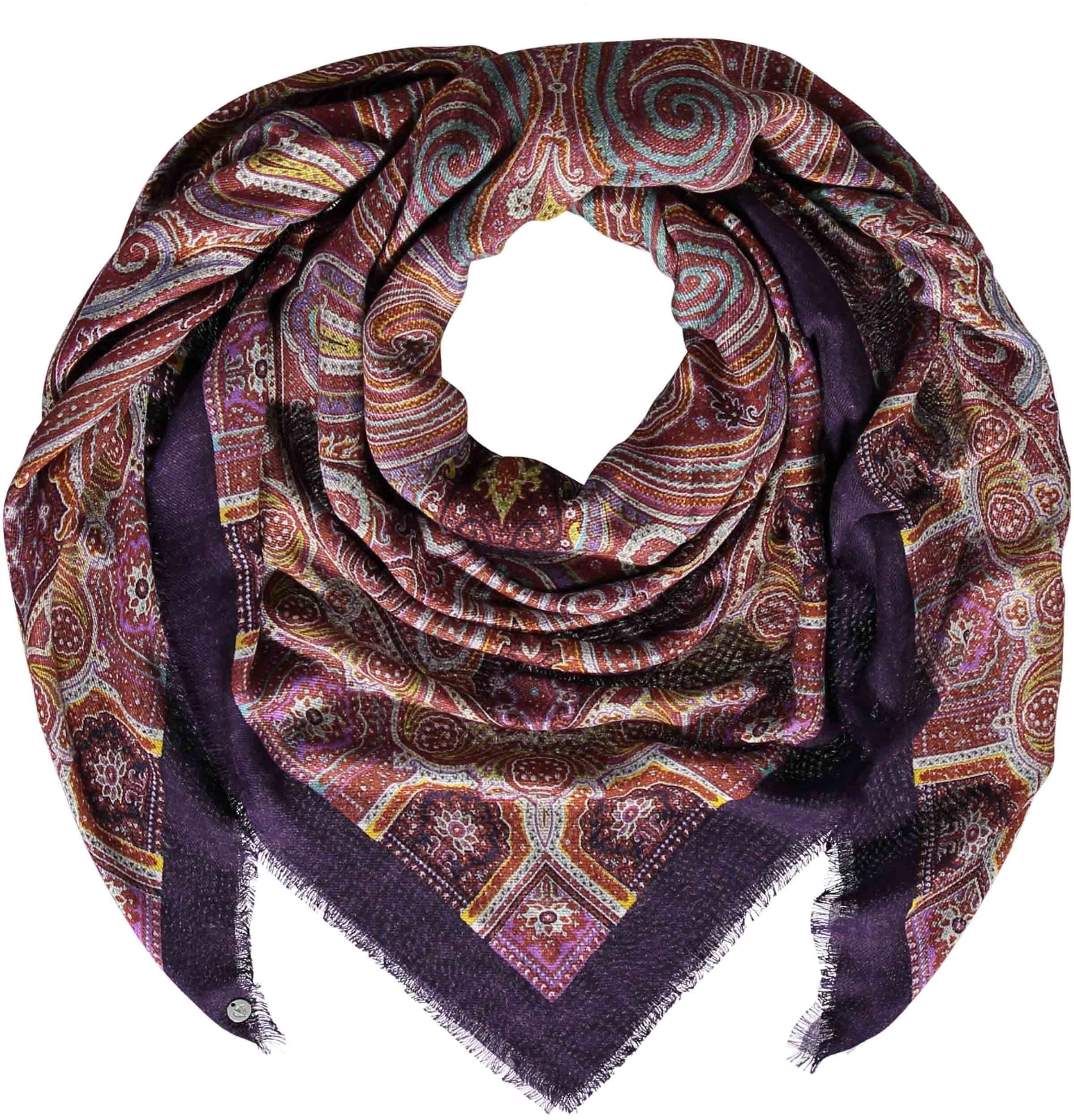 Signature Boheme Lightweight Paisley Digital Print Square Wrap