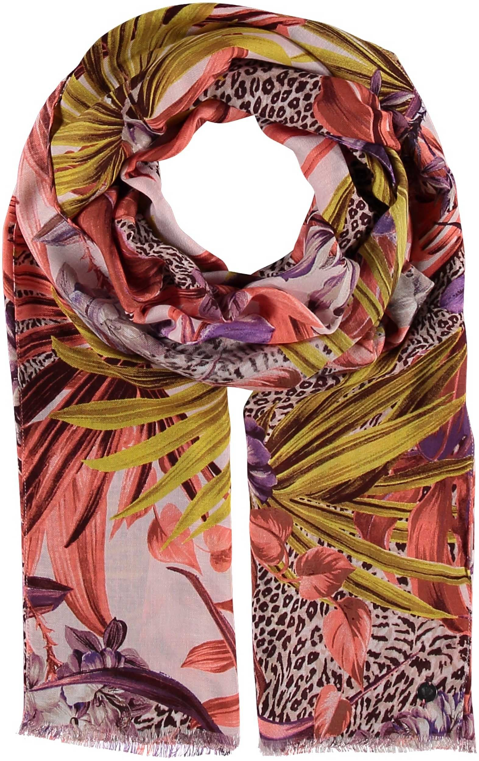 Jungle Floral Viscose Print Scarf