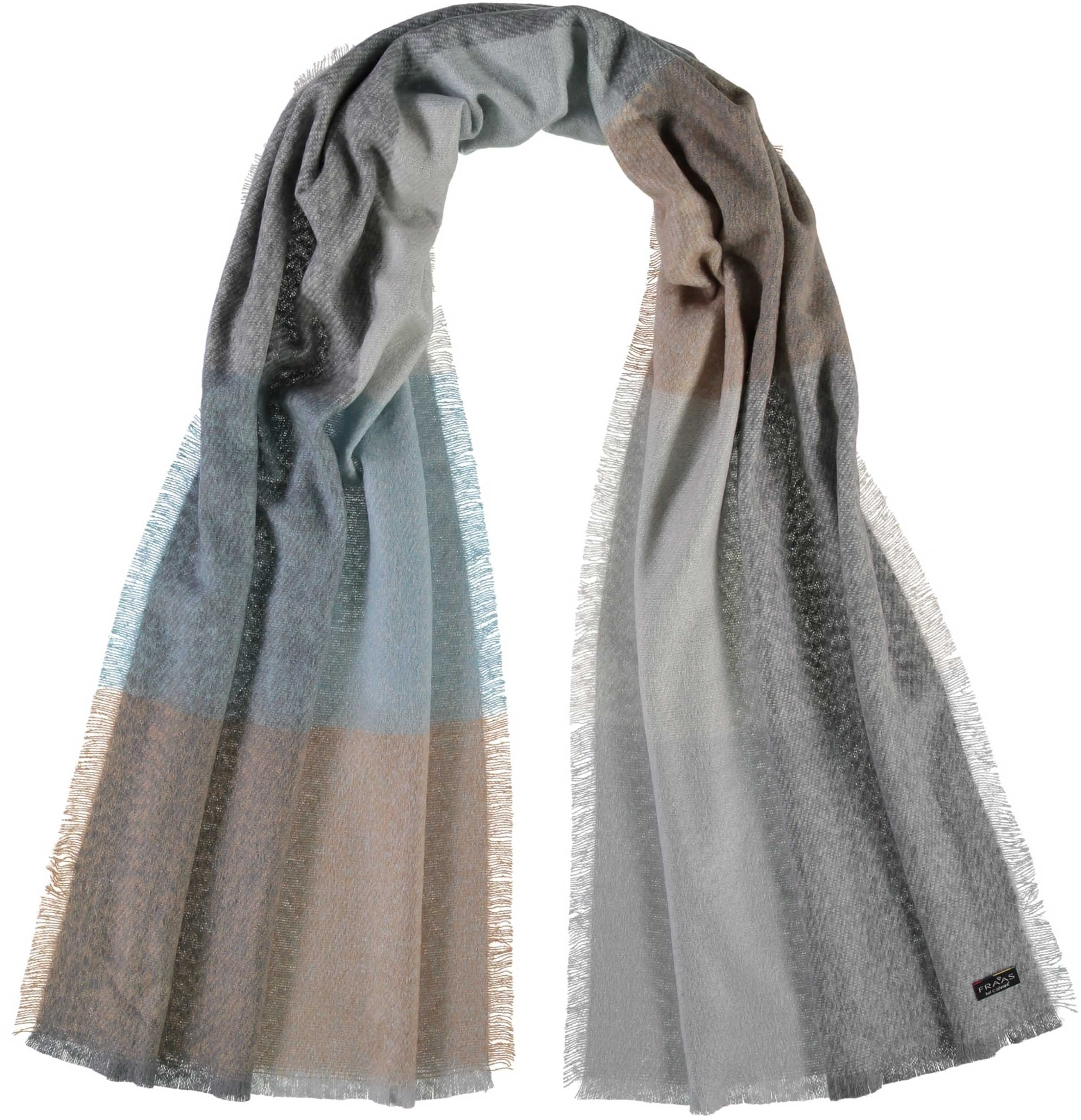 Colour Block Boucle Acrylic Wrap Scarf