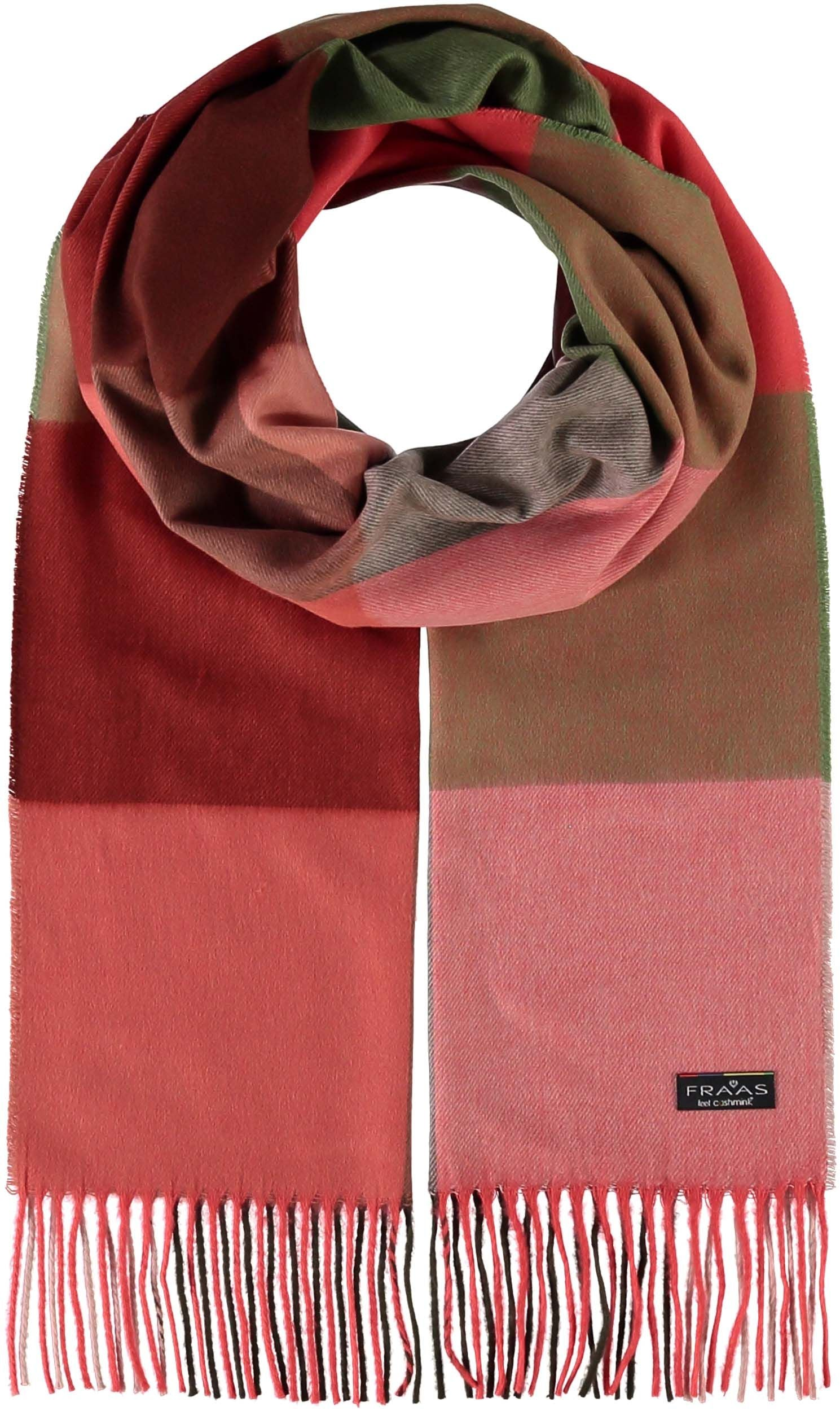 Multi Color Block Oversized Cashmink Scarf