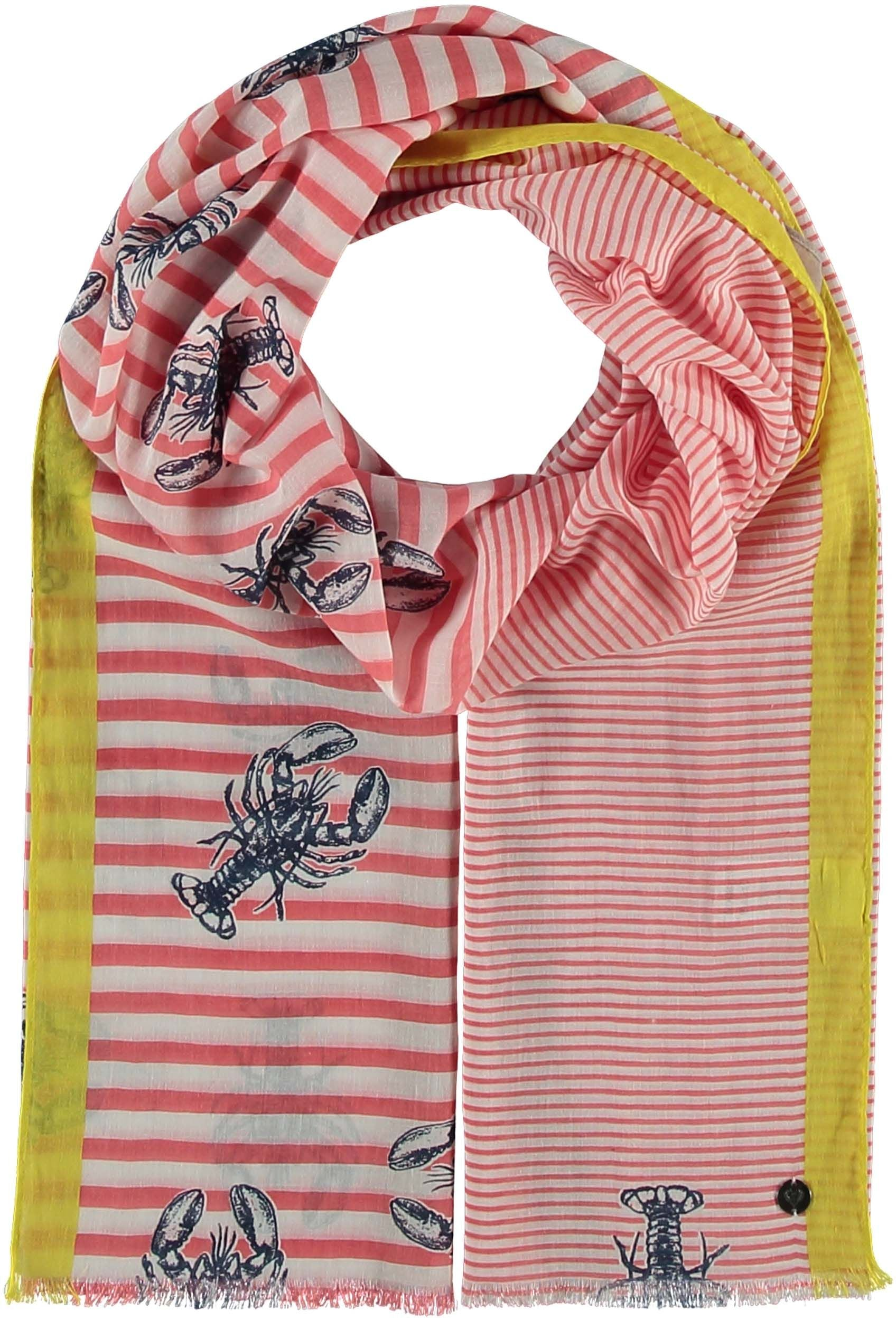 Lobster Stripe Cotton Print Scarf