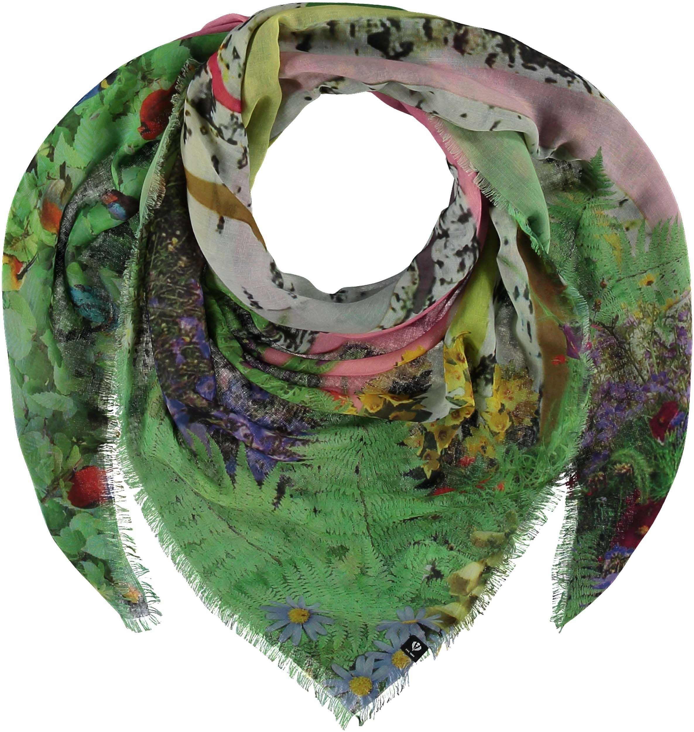TH!NK Domesticated Nature Polyester Print Square Scarf