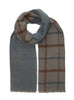 Double Face Windowpane Herringbone Woven Cashmink Scarf