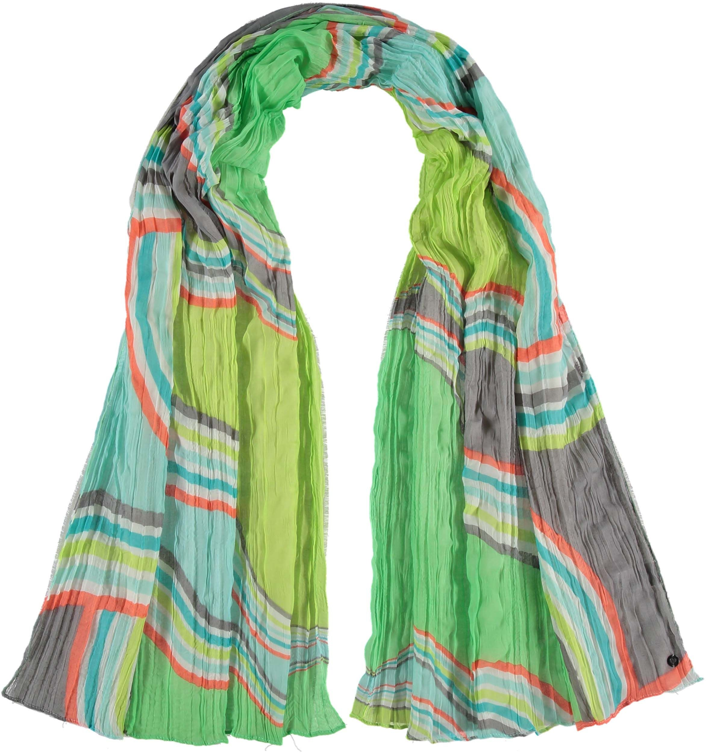 Geo Waves Polyester Print Scarf