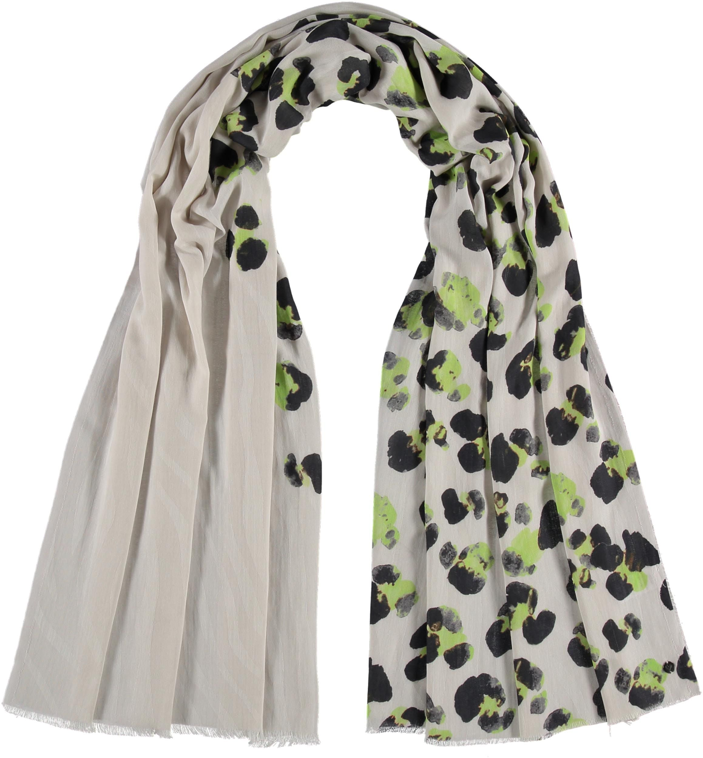 Painted Leo Cotton Print Scarf