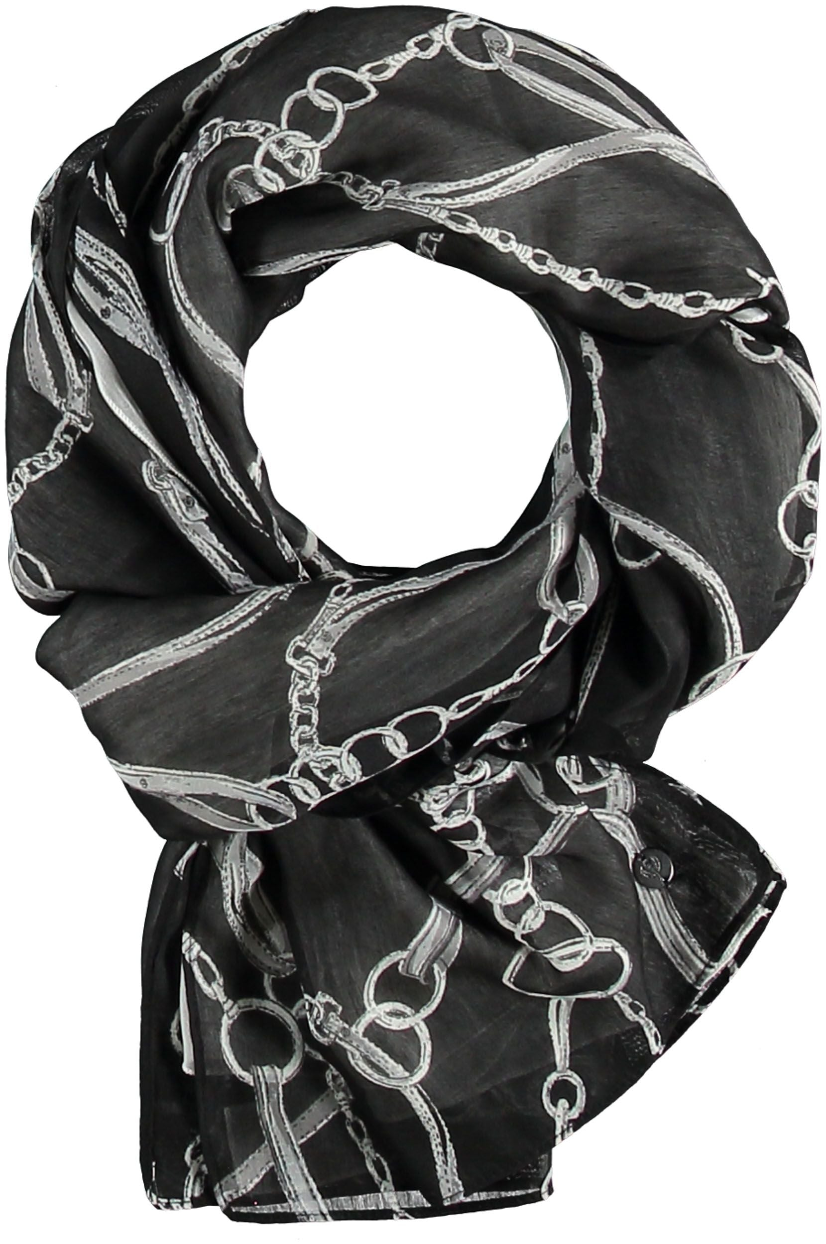 Links Polyester Print Scarf - Black Set