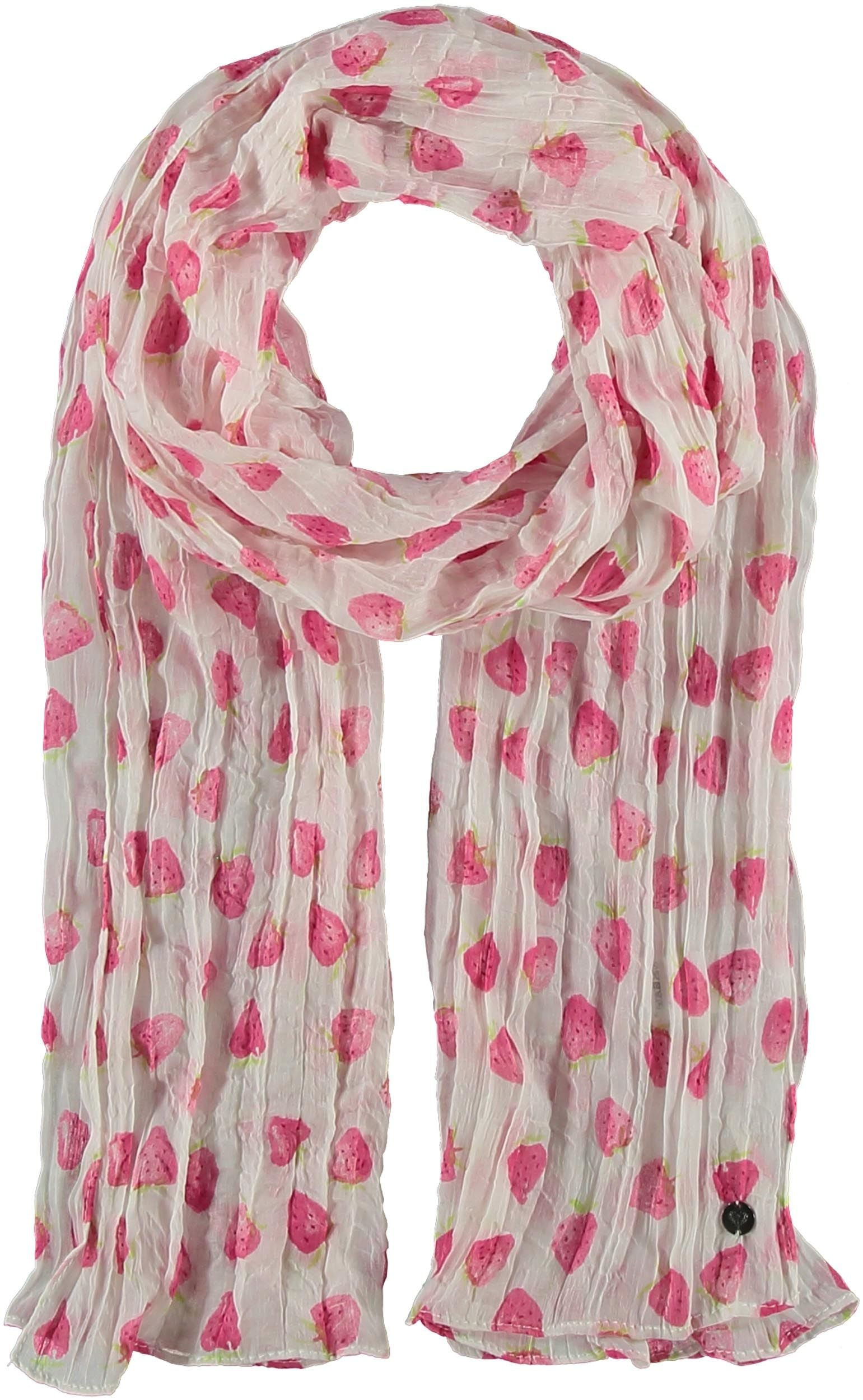 Strawberry Fields Polyester Print Scarf