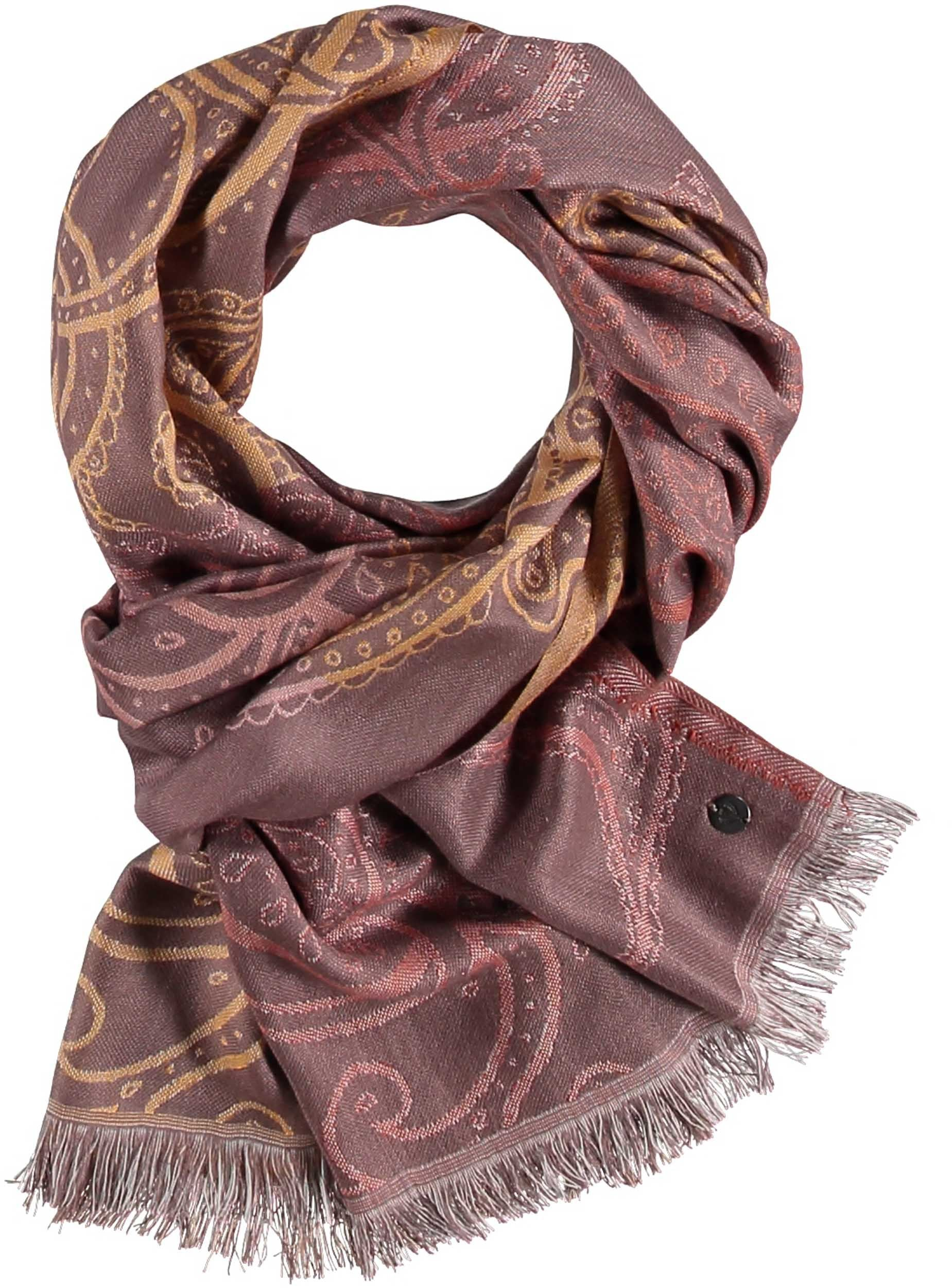 Ombre Paisley Viscose Print Scarf
