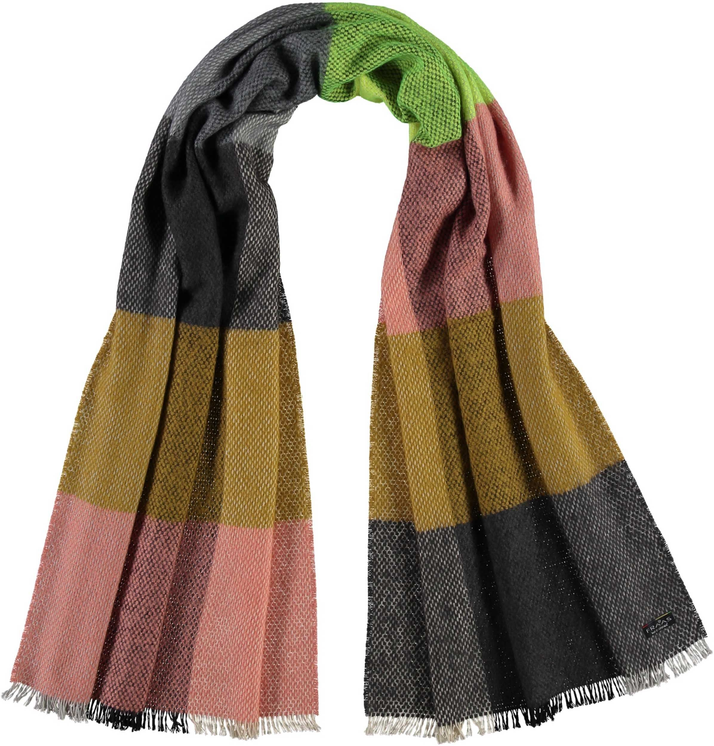 TH!NK Colour Block Woven Boucle Wrap Scarf