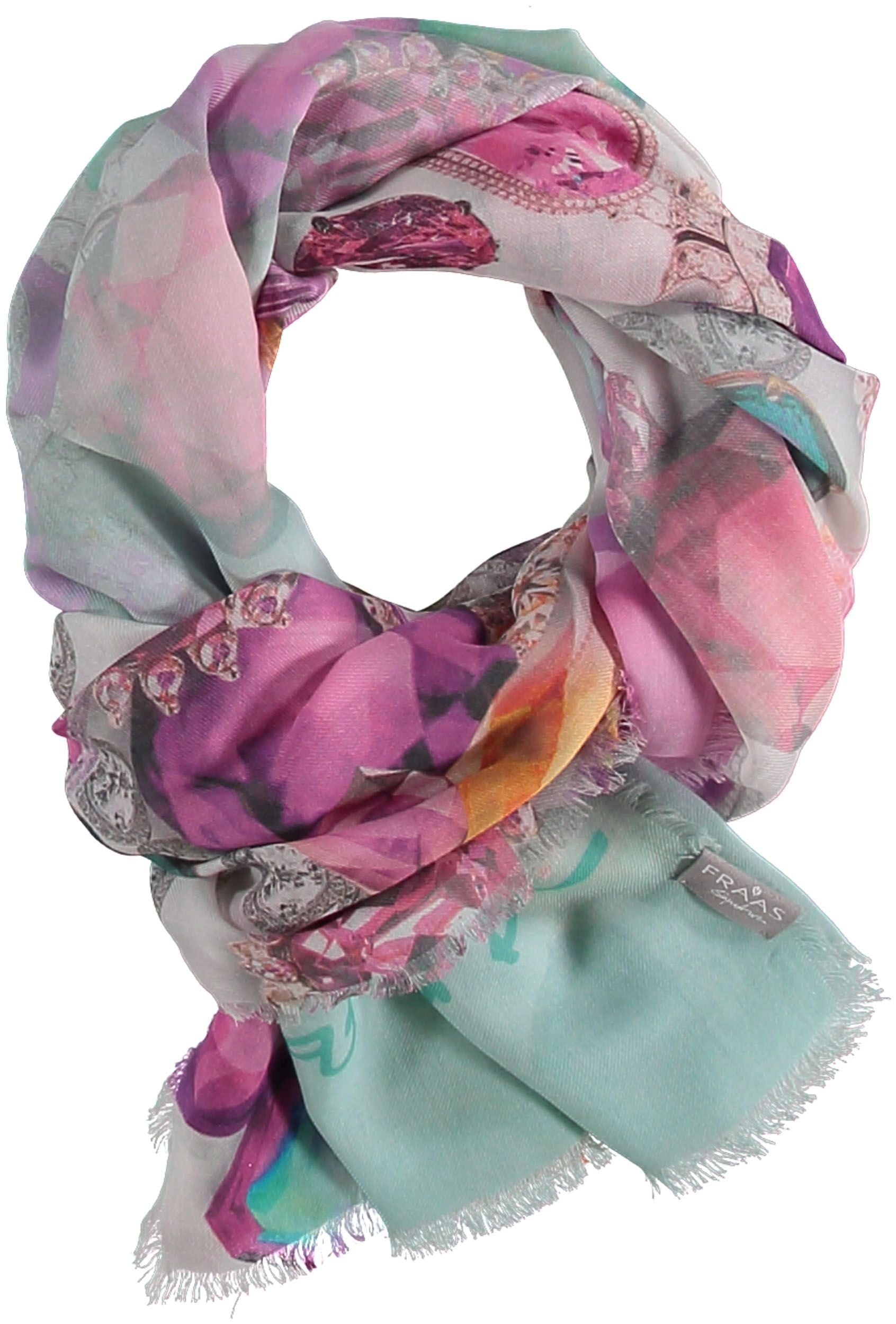 Jewel Box Digital Print Modal Cotton Wrap Scarf