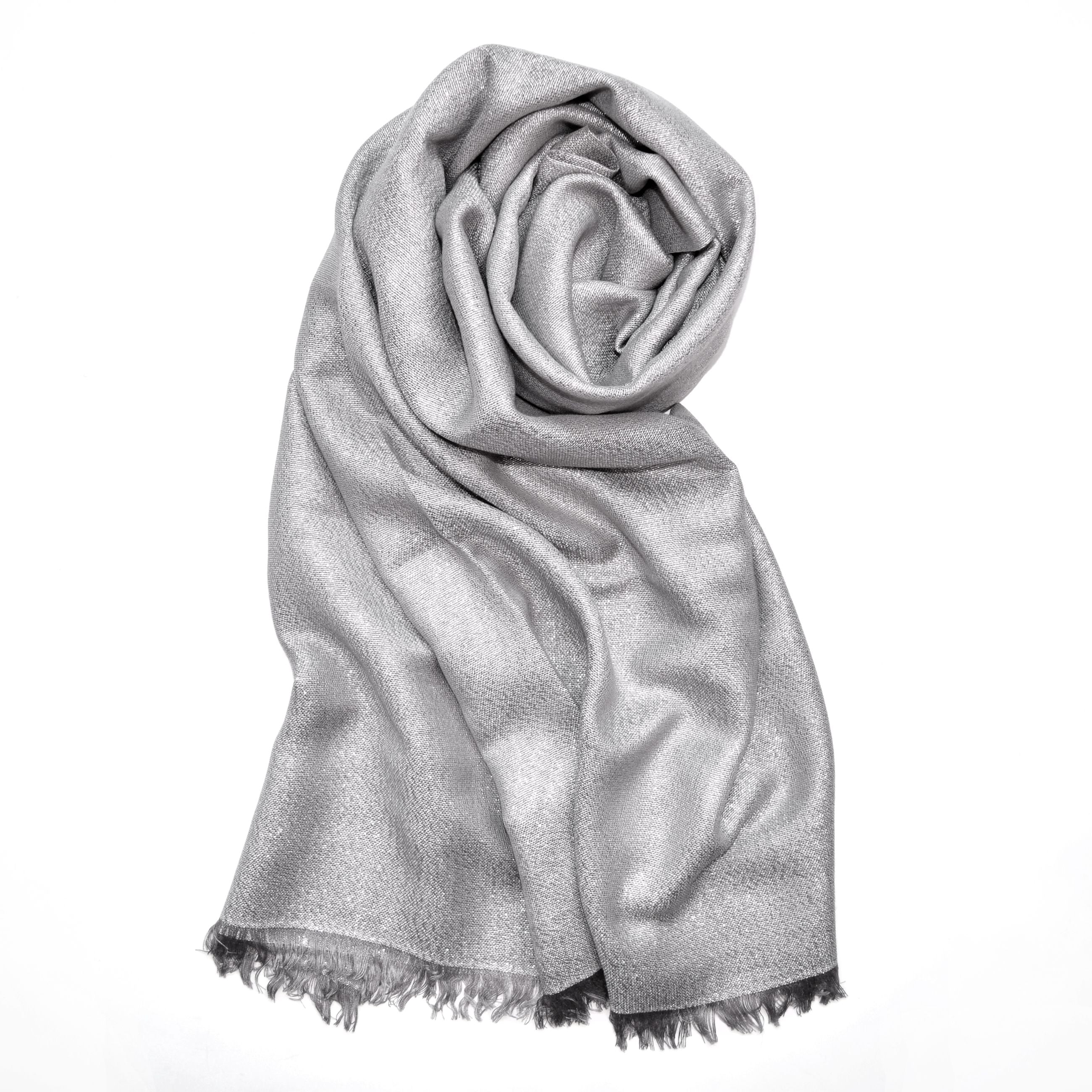 Solid Metallic Woven Evening Wrap