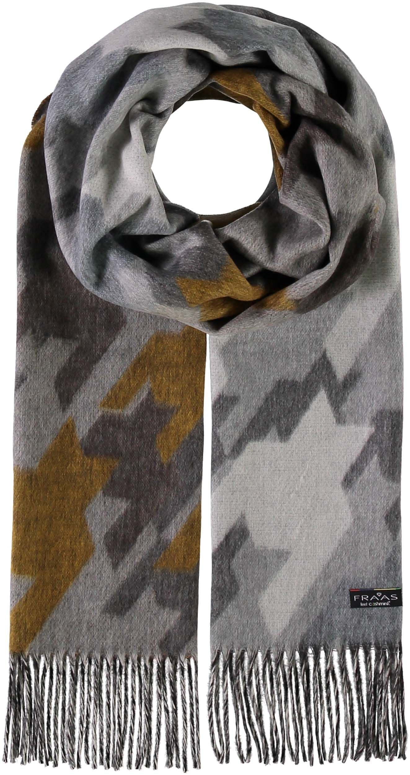 Abstract Houndstooth Oversized Cashmink Scarf
