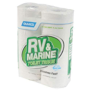 4pk Camco RV Biodegradable 1-Ply Toilet Paper