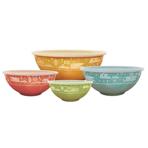 Camp Casual Set of 4 Bowls with Lids