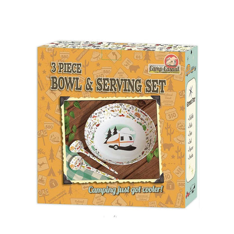 Camp Casual Bowl & Servers Set