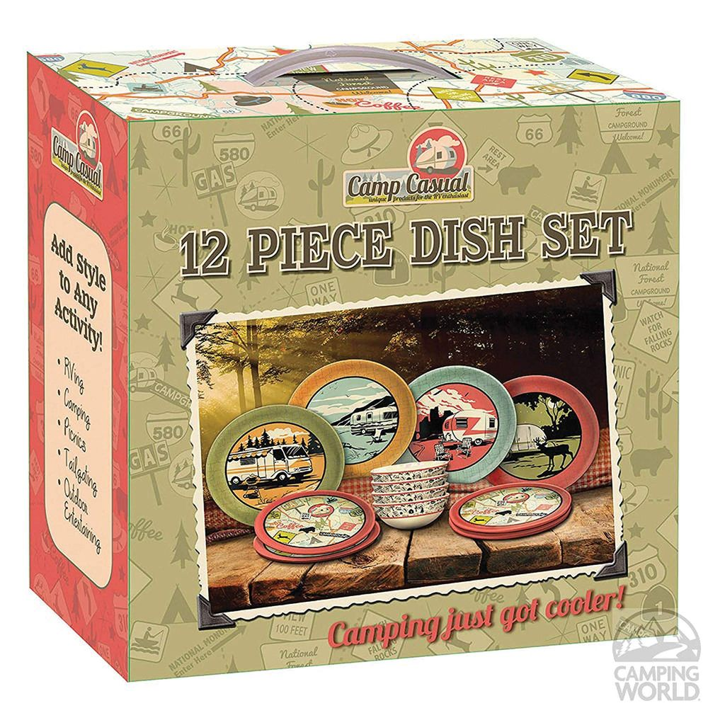 Camp Casual 12 Piece Dish Set