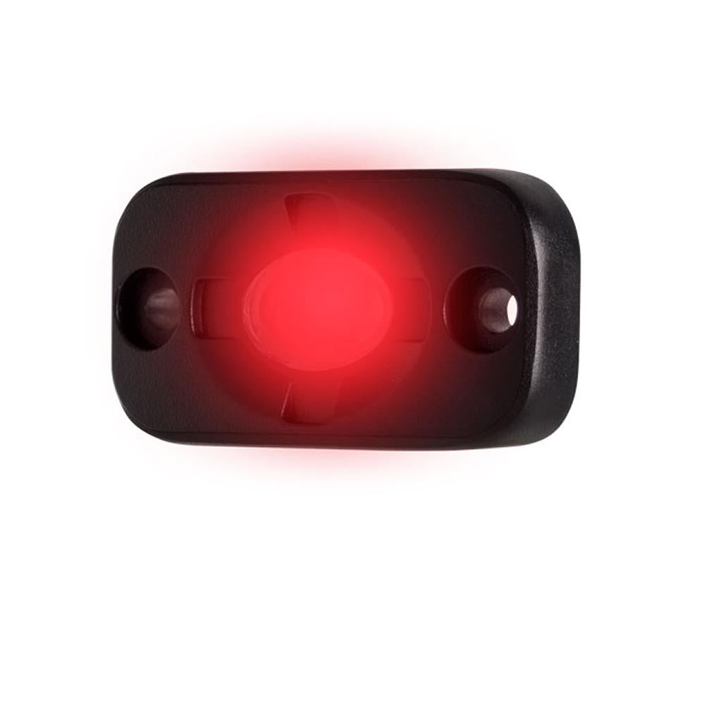 "HEISE Auxiliary Accent Lighting Pod - 1.5"" x 3"" - Black-Red"