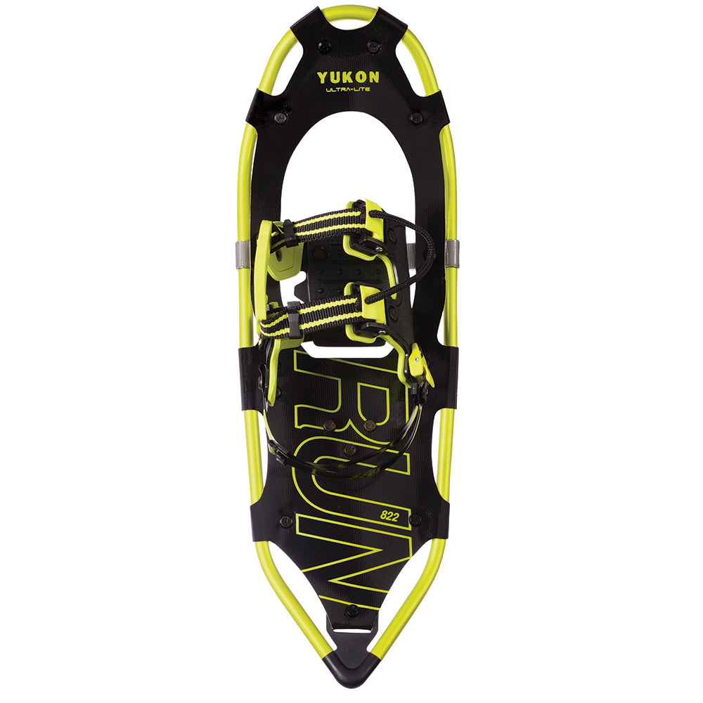 "YUKON RUN Series Showshoe 8"" x 22"" - Black-Yellow - 225lbs Weight Capacity"