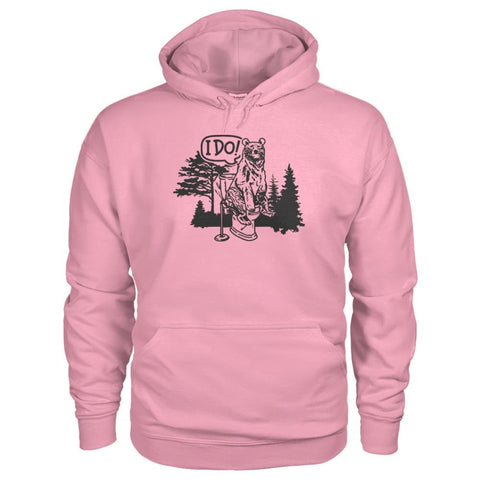 Bear In The Woods Hoodie - Classic Pink / S - Hoodies