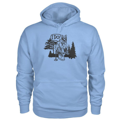 Bear In The Woods Hoodie - Light Blue / S - Hoodies