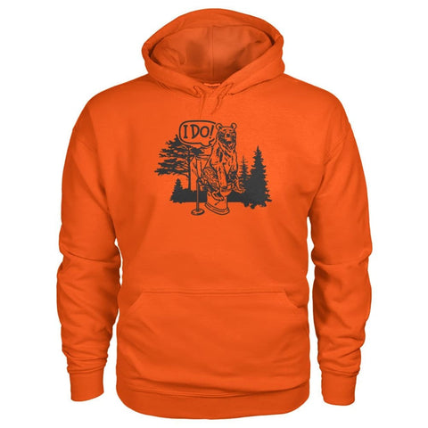 Bear In The Woods Hoodie - Orange / S - Hoodies
