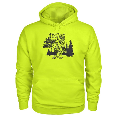 Bear In The Woods Hoodie - Safety Green / S - Hoodies