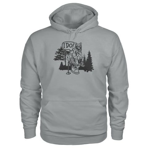 Bear In The Woods Hoodie - Sport Grey / S - Hoodies