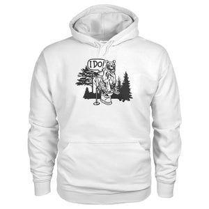 Bear In The Woods Hoodie - White / S - Hoodies