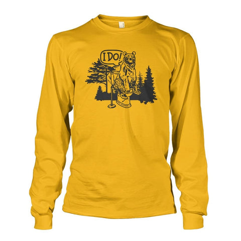Bear In The Woods Long Sleeve - Gold / S - Long Sleeves