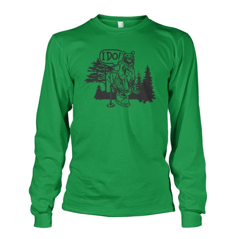Bear In The Woods Long Sleeve - Irish Green / S - Long Sleeves