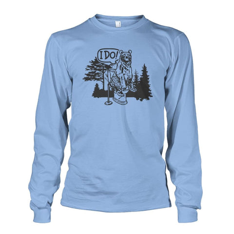 Bear In The Woods Long Sleeve - Light Blue / S - Long Sleeves