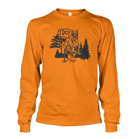 Bear In The Woods Long Sleeve - Safety Orange / S - Long Sleeves
