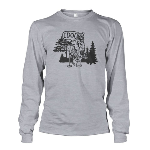 Bear In The Woods Long Sleeve - Sports Grey / S - Long Sleeves