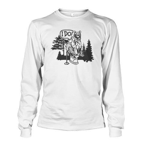 Bear In The Woods Long Sleeve - White / S - Long Sleeves
