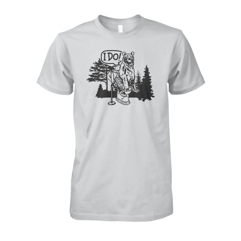 Bear In The Woods Tee - Ash Grey / S - Short Sleeves