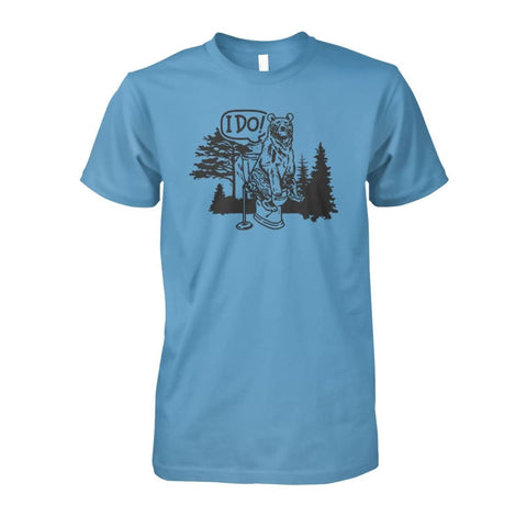 Bear In The Woods Tee - Carolina Blue / S - Short Sleeves