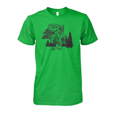 Bear In The Woods Tee - Electric Green / S - Short Sleeves