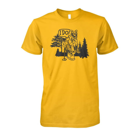 Image of Bear In The Woods Tee - Gold / S - Short Sleeves