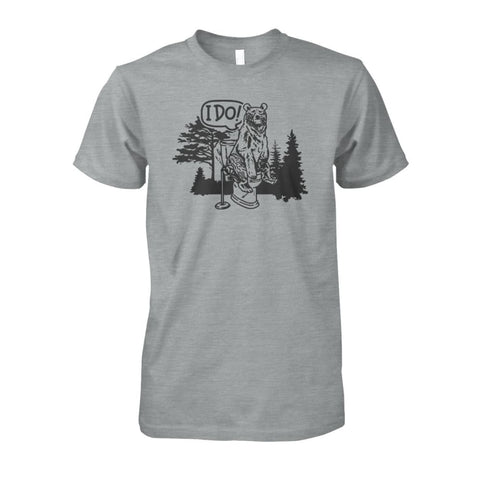 Bear In The Woods Tee - Sport Grey / S - Short Sleeves