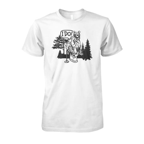 Image of Bear In The Woods Tee - White / S - Short Sleeves