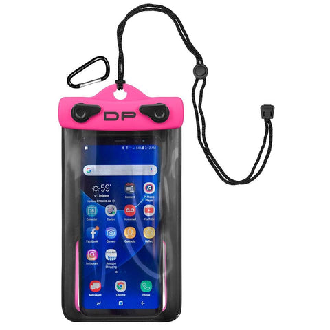 Dry Pak Smart Phone-GPS-MP3 Case - Hot Pink - 4 x 6 - Outdoor