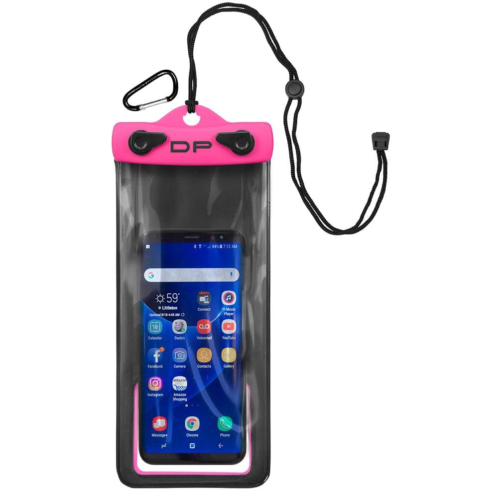 Dry Pak Smart Phone-GPS-MP3 Case - Hot Pink - 4 x 8 - Outdoor