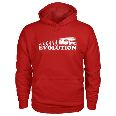 Evolution Camper Hoodie - Cherry Red / S - Hoodies