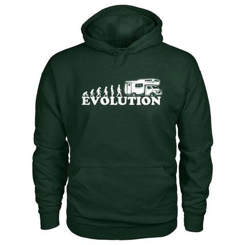 Evolution Camper Hoodie - Forest Green / S - Hoodies