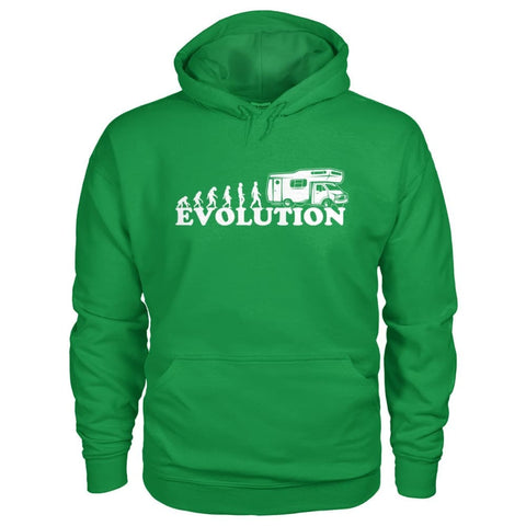 Evolution Camper Hoodie - Irish Green / S - Hoodies