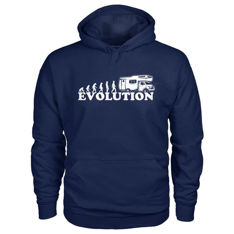 Image of Evolution Camper Hoodie - Navy / S - Hoodies