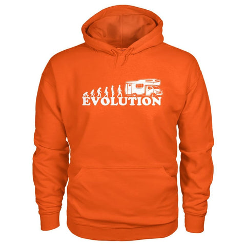 Evolution Camper Hoodie - Orange / S - Hoodies