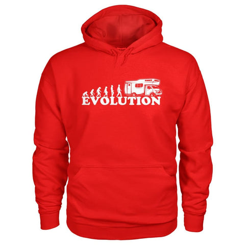 Evolution Camper Hoodie - Red / S - Hoodies