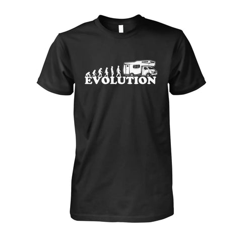 Image of Evolution Camper Tee - Black / S - Short Sleeves